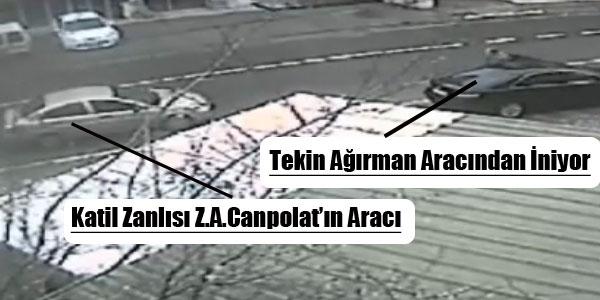 Tekin Ağırman'ın Vurulma Anı Kamerada