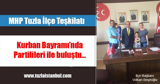MHP Tuzla Kurban Bayramında partilileri ile buluştu.