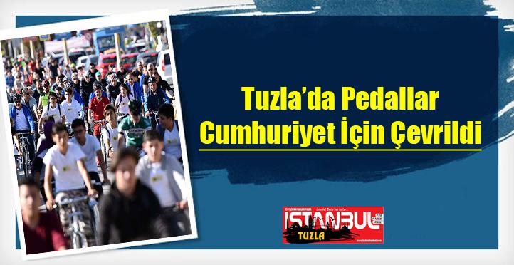 Tuzla'da Pedallar Cumhuriyet İçin Çevrildi...