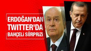 Erdoğan'dan Twitter'da Bahçeli sürprizi!...