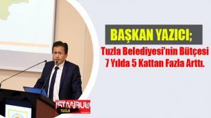 Tuzla Belediyesi'nin Bütçesi 7 Yılda 5 Kattan Fazla Arttı.