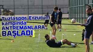 Tuzlaspor Erzurum kampında Antremanlara başladı.
