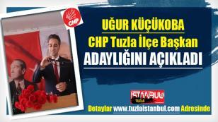 Avukat Uğur Küçükoba CHP Tuzla İlçe Başkan Adaylığını açıkladı…