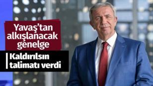 Ankara Büyükşehir Belediye Başkanı Mansur Yavaş'tan fotoğraflarımı kaldırın genelgesi