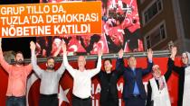 Grup Tillo da, Tuzla'da Demokrasi Nöbetine Katıldı.