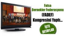 Fatsa Dernekler Federasyonu (FADEF) Kongresini Yaptı...