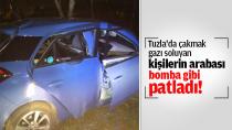 Tuzla'da çakmak gazı soluyan kişilerin arabası bomba gibi patladı!