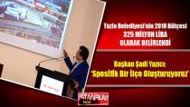 Tuzla Belediyesi'nin 2018 Bütçesi 325 Milyon Lira…