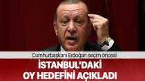 Cumhurbaşkanı Erdoğan, İstanbul'daki Oy Hedefini Açıkladı…