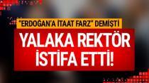 Rektör istifa etti. Yaptığı yalakalıkla AK Parti'yi da çileden çıkarmıştı
