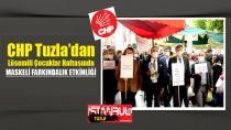 CHP Tuzla'dan Lösemili Çocuklar Haftasında Maskeli farkındalık etkinliği