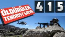 Suriye'de şu ana kadar kaç terörist öldürüldü?