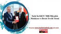 Tuzla'da KKTC Milli Mücadele Madalyası ve Beratı Tevcih Töreni yapıldı.