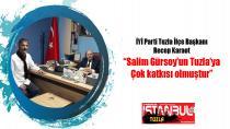 """İYİ Parti Tuzla İlçe Başkanı Recep Karaot """"Salim Gürsoy'un Tuzla'ya çok katkısı olmuştur""""..."""