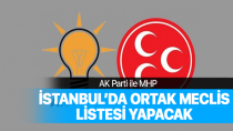 AK Parti ile MHP İstanbul'da ortak meclis listesi yapacak.
