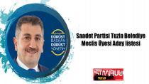 Saadet Partisi Tuzla Belediye Meclis Üyesi Adayları