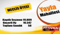 Tuzla Yayla Mahallesi 31 Mart 2019 yerel seçimleri meclis üyesi oy dağılımı…