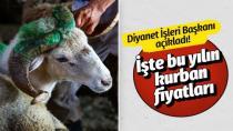 2019 Kurban fiyatlarını Diyanet açıkladı...
