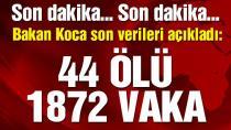 Bakan Koca açıkladı! İşte Türkiye'deki güncel corona virüsü vaka sayısı