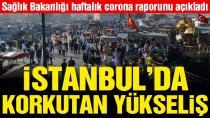 Sağlık Bakanlığı haftalık corona tablosunu açıkladı! İstanbul'daki artış dikkat çekti.