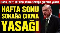 Cumhurbaşkanı Erdoğan yeni corona virüsü yasaklarını açıkladı!