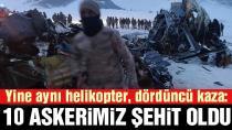 Askeri helikopter düştü: Şehit sayısı 10'a yükseldi!